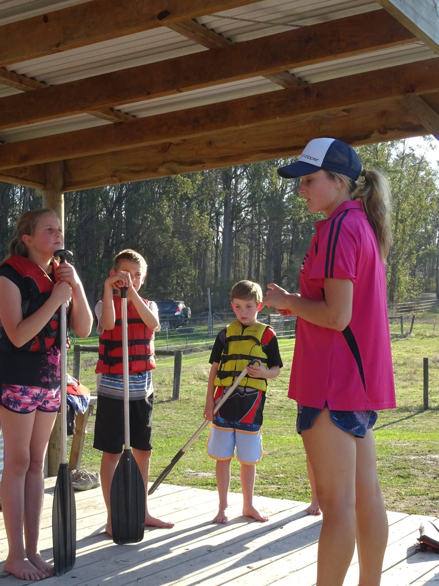 Canoes safety talk