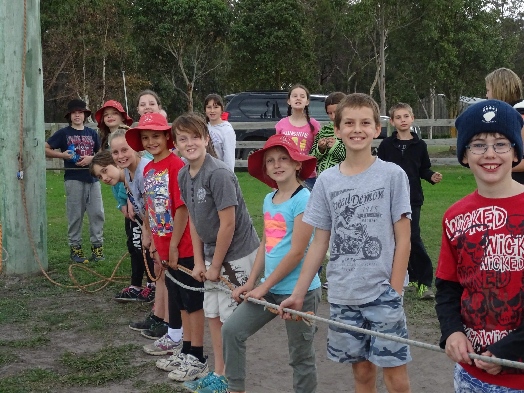 Giant Swing team work